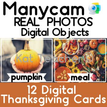 manycam objects  real photo thanksgiving flashcards