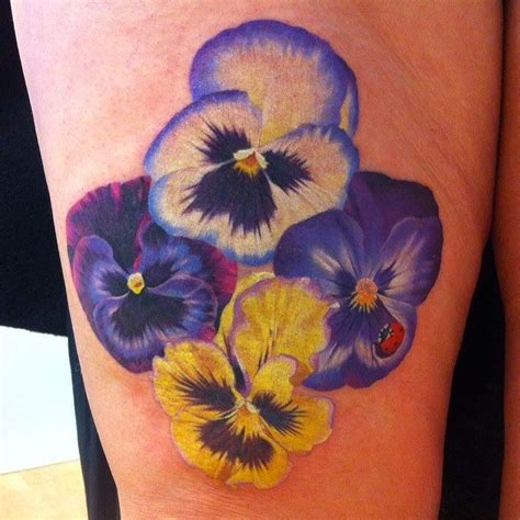 pensees tattoo tattoos pansy tattoo earthy tattoos