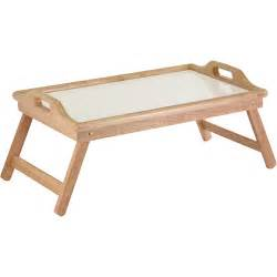 basic table bed tray with handles white melamine and