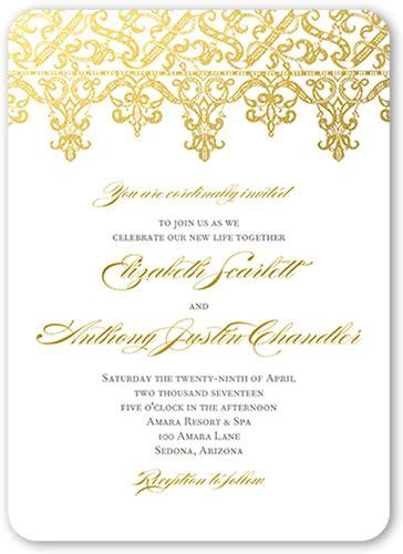 Elegantly Laced 5x7 Flat Wedding Invite Shutterfly