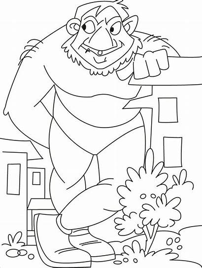 Coloring Giant Troll Iron Coloriage Giants Cardinals