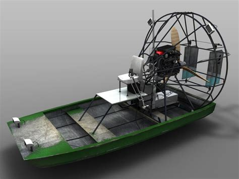 Model Airboats airboat boat 3d model