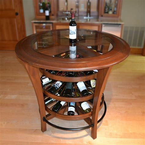 wine tables for unique wine rack bar table with glass countertops 1554