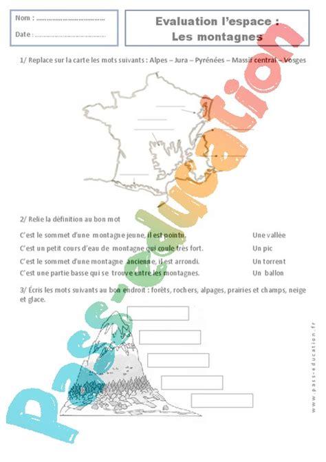Carte De Montagne Ce1 by Montagnes Paysages Ce1 Evaluation Espace Temps