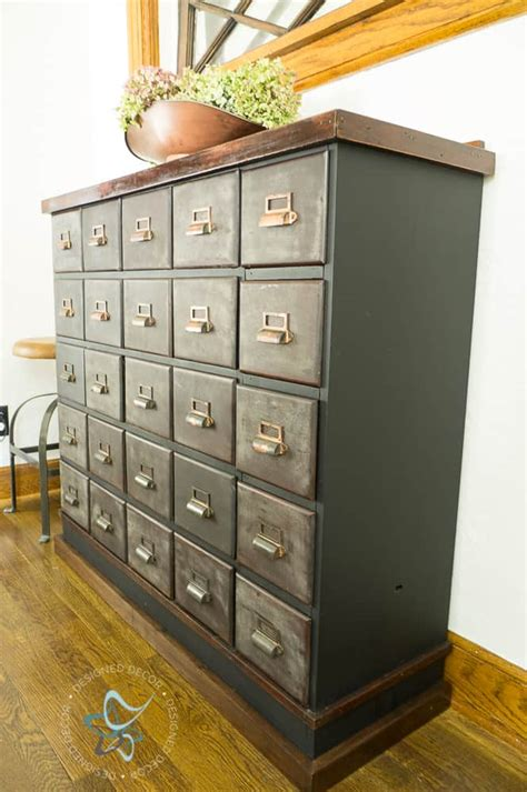 vintage apothecary cabinet makeover designed decor