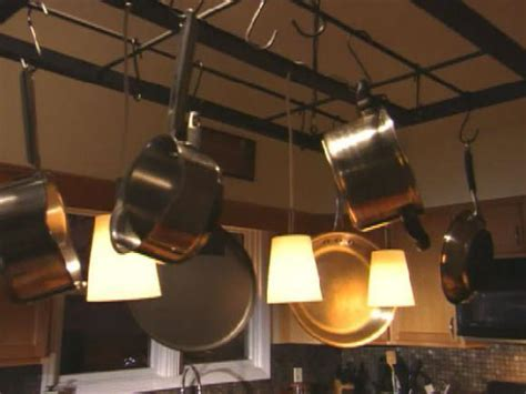 Build a Hanging Pot Rack   HGTV