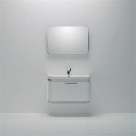 Designer Bathroom Vanity Units by Lusso Vos White Wall Mounted Designer Bathroom