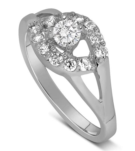 Half Carat Round Diamond Engagement Ring In White Gold. Nose Engagement Rings. Budget Engagement Wedding Rings. 10 Carat Wedding Rings. Goddess Rings. Wedding Hollywood Wedding Rings. Raindrop Engagement Rings. Baroque Style Engagement Rings. March Rings