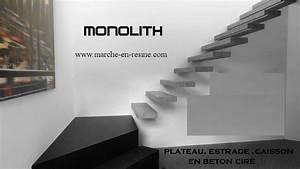 Recouvrir Marche Escalier : monolith marche en beton cire escalier suspendu escalier ~ Premium-room.com Idées de Décoration