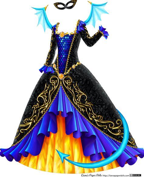 Masquerade Dress Lianas Paper Dolls