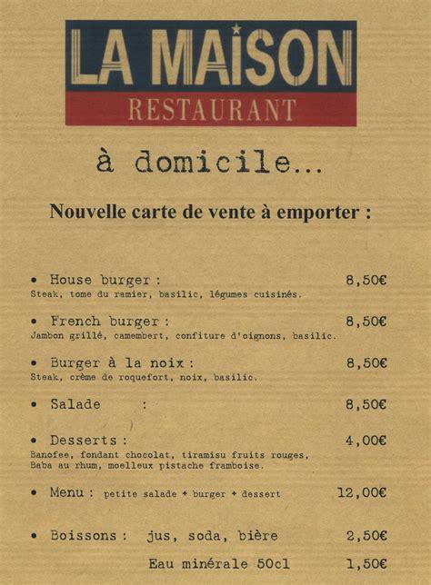vente à domicile cuisine restaurant la maison en centre ville de montauban 82