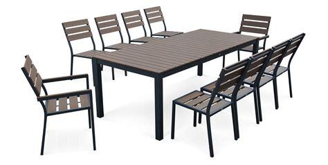 Salon de jardin en aluminium table de jardin resine | Maisonjoffrois
