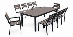 Salon De Jardin Table : table salon de jardin bois meuble de jardin resine tressee ~ Teatrodelosmanantiales.com Idées de Décoration