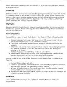 Representative Resume by Patient Service Representative Resume Template Learnhowtoloseweight Net