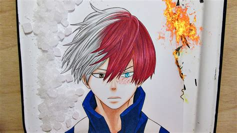 Speed Drawing Shouto Todoroki || My Hero Academia - YouTube