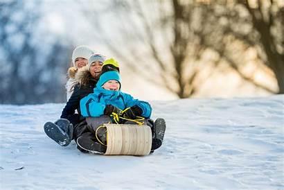 Winter Snow Tobbogan Hill Tube Fun Child