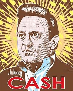Johnny Cash Poster : johnny cash poster by red robot ~ Buech-reservation.com Haus und Dekorationen