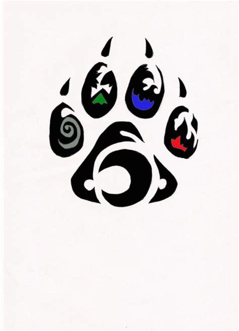 element wolf paw tribal tattoo artwork  ink