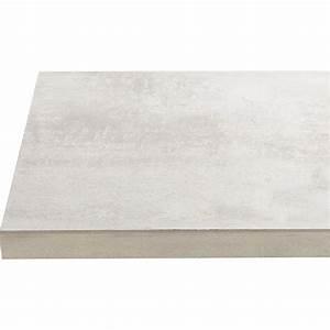 Beton Pour Plan De Travail : plan de travail stratifi effet b ton blanc satin x ~ Premium-room.com Idées de Décoration