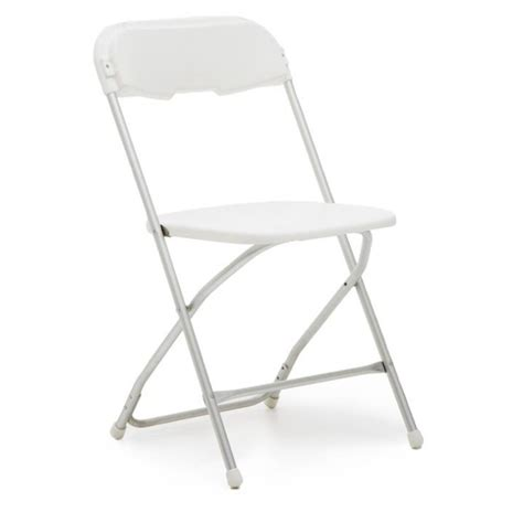 white samsonite folding chair and wedding rentals