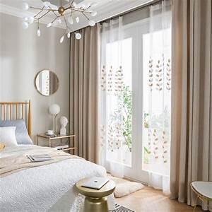 Vorhänge Für Schlafzimmer : 1er pack moderner vorhang unifarbe aus leinen in 2019 ~ Watch28wear.com Haus und Dekorationen