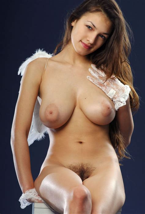 Angel With Huge Boobs And Hairy Pussy In Studio Russian Sexy Girls