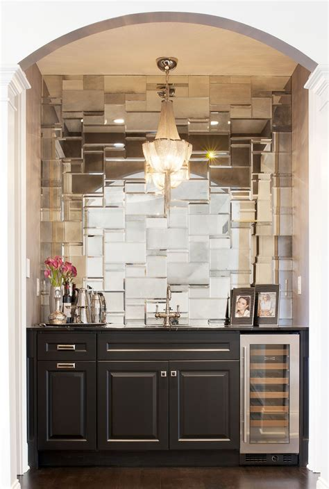 Bar Backsplash Ideas by Mirrored Backsplash In Butler S Pantry B A R S