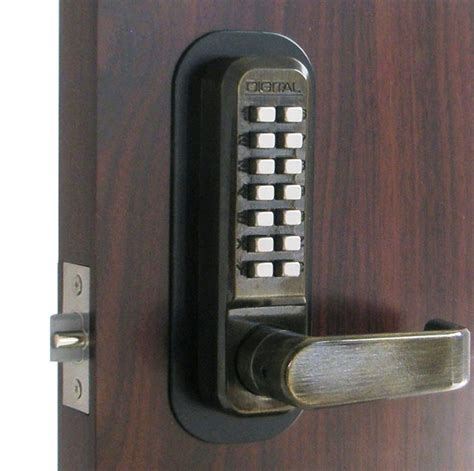 combination door lock lockey 2835dc keyless mechanical digital sided