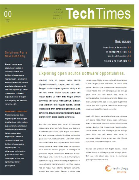 Eco Business Newsletter Template | Newsletter Templates | Ready-Made Office Templates
