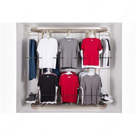 revolving closet system large richelieu hardware