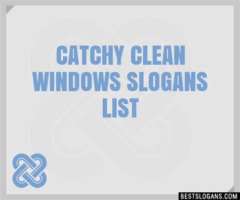 30 catchy clean windows slogans list taglines phrases