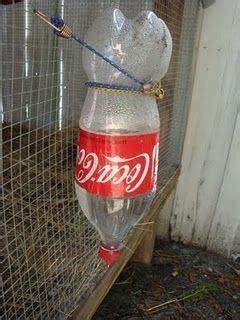 diy chicken waterer reusing  plastic bottles garden