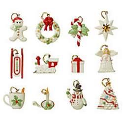 lenox christmas winter delights miniature tree ornaments 12 set angel train new ebay