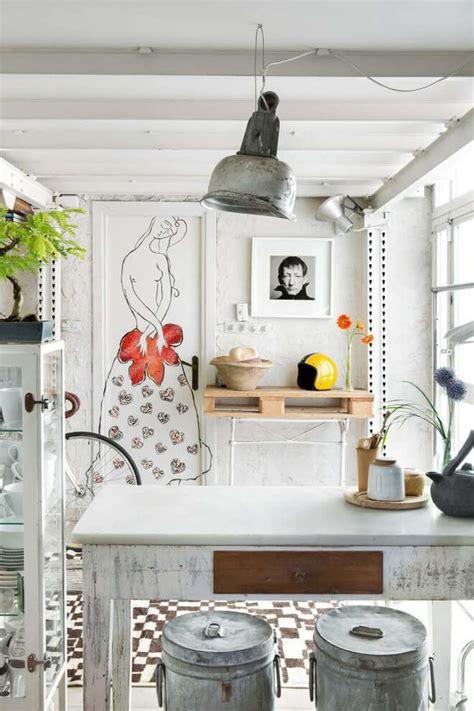 cuisine rustique blanche cuisines modernes avec accents en bois en 34 exemples