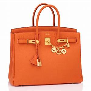 Hermes Birkin Bag 35cm Orange Gold Hardware | World's Best  Hermes