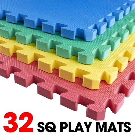 32 sq ft foam interlocking play mats tiles floor
