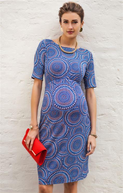 blue maternity maxi dress maternity shift dress aztec artistry maternity