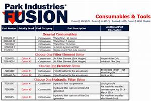 Fusion Consumable  U0026 Tool Parts List