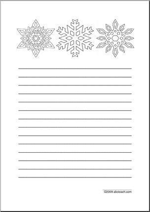 writing paper snowflakes elem abcteach