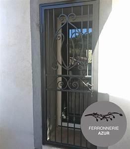 fabrication grille de securite fer porte d39entree cannes 06 With grille de sécurité pour porte d entrée