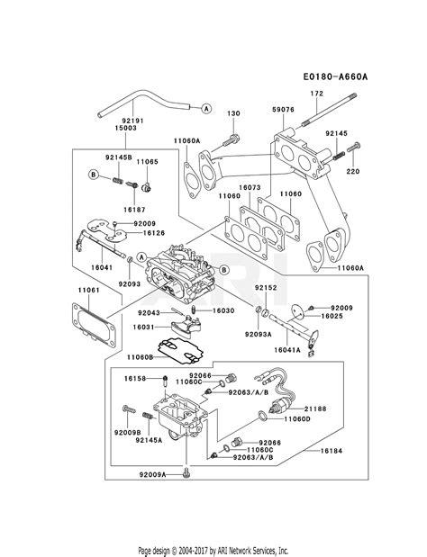kawasaki fhd bs  stroke engine fhd parts diagram