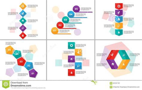 Colorful Infographic Presentation Template Brochure Flyer Abstract Colorful Infographic Elements Presentation