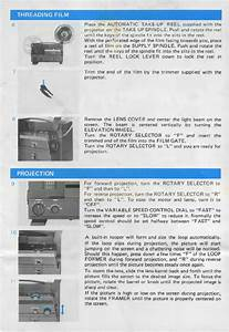Chinon 4000gl Projector Instructions Manual Pdf View