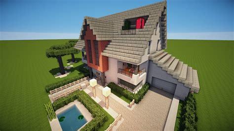 Wie Baut Moderne Häuser In Minecraft by Minecraft Modernes Zwei Familien Haus Bauen Tutorial