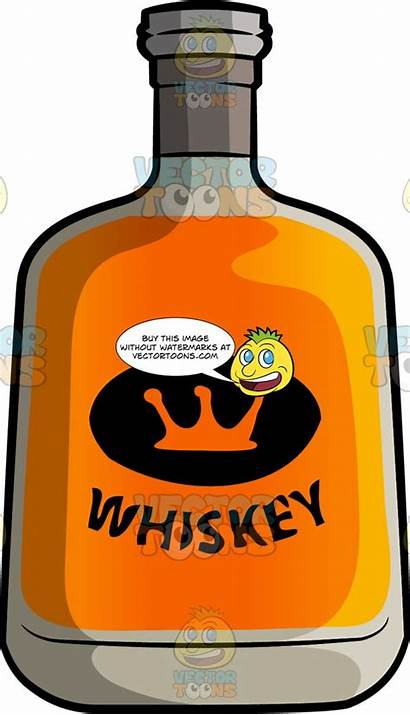 Whiskey Bottle Aged Clipart Alcohol Cartoons