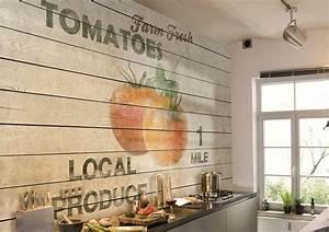 Tapete Küche Abwaschbar : deko ideen tapete f r k che ausw hlen 20 ideen f r stilvolle wandgestaltung in der k che ~ Sanjose-hotels-ca.com Haus und Dekorationen