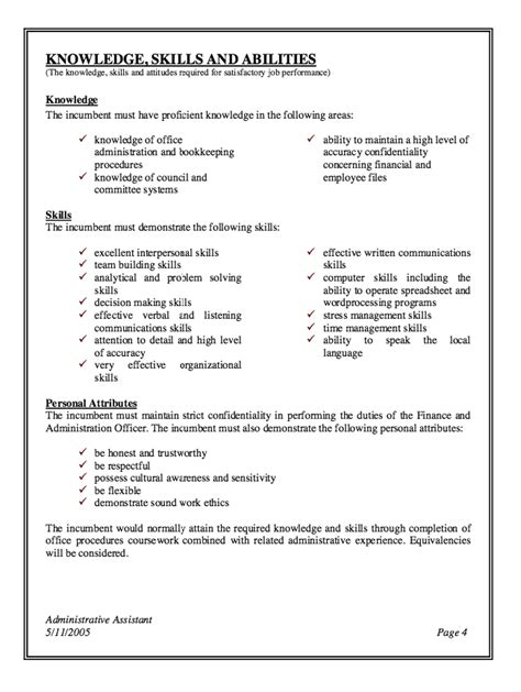 administrative assistant description resume 3