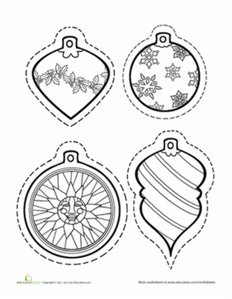 color christmas ornaments worksheet education com