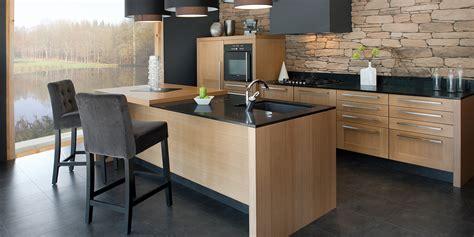 cuisine bois design cuisine moderne bois  noir