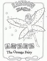 Coloring Rainbow Magic Pages Fairy Colouring Print Cartoon Popular sketch template